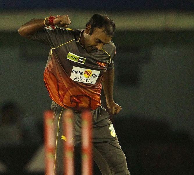Amit Mishra Exults After Taking Wicket Of Ali Waqas