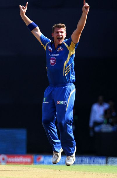 Corey Anderson Appeals For A Wicket