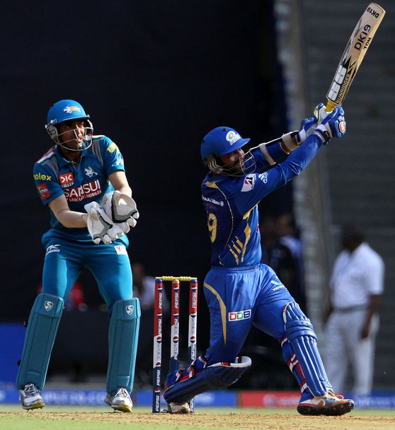 Dinesh Karthik Plays A Lofted Shot Towards The On Side