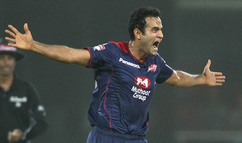 Irfan Pathan Celebrates The Big Wicket Of Chris Gayle