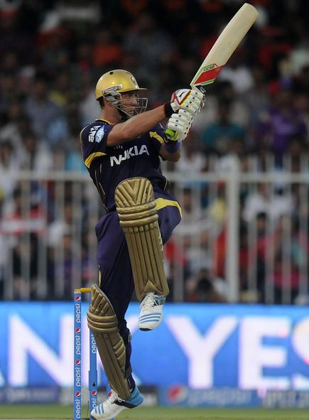 Jacques Kallis Flicks The Ball Into The Crowds For A Four
