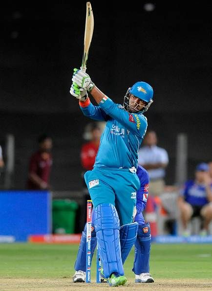 Yuvraj Singh Deposits The Ball Into The Stands