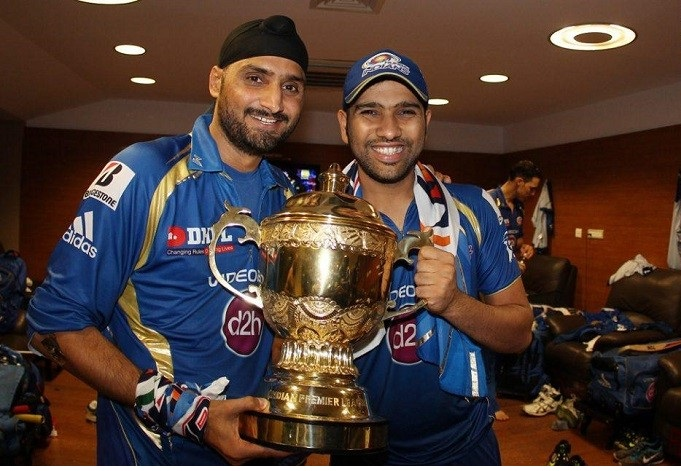 Harbhajan Singh and Skipper Rohit Sharma was retained by MI franchisee