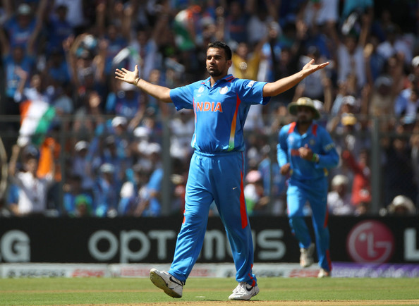 Zahher Khan was the leading wicket taker to India in WC2011