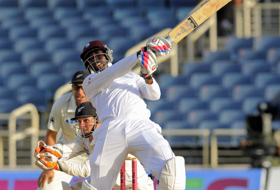 Shane Shillingford scored 2nd fastest fifty in tests. (Photo: WICB)