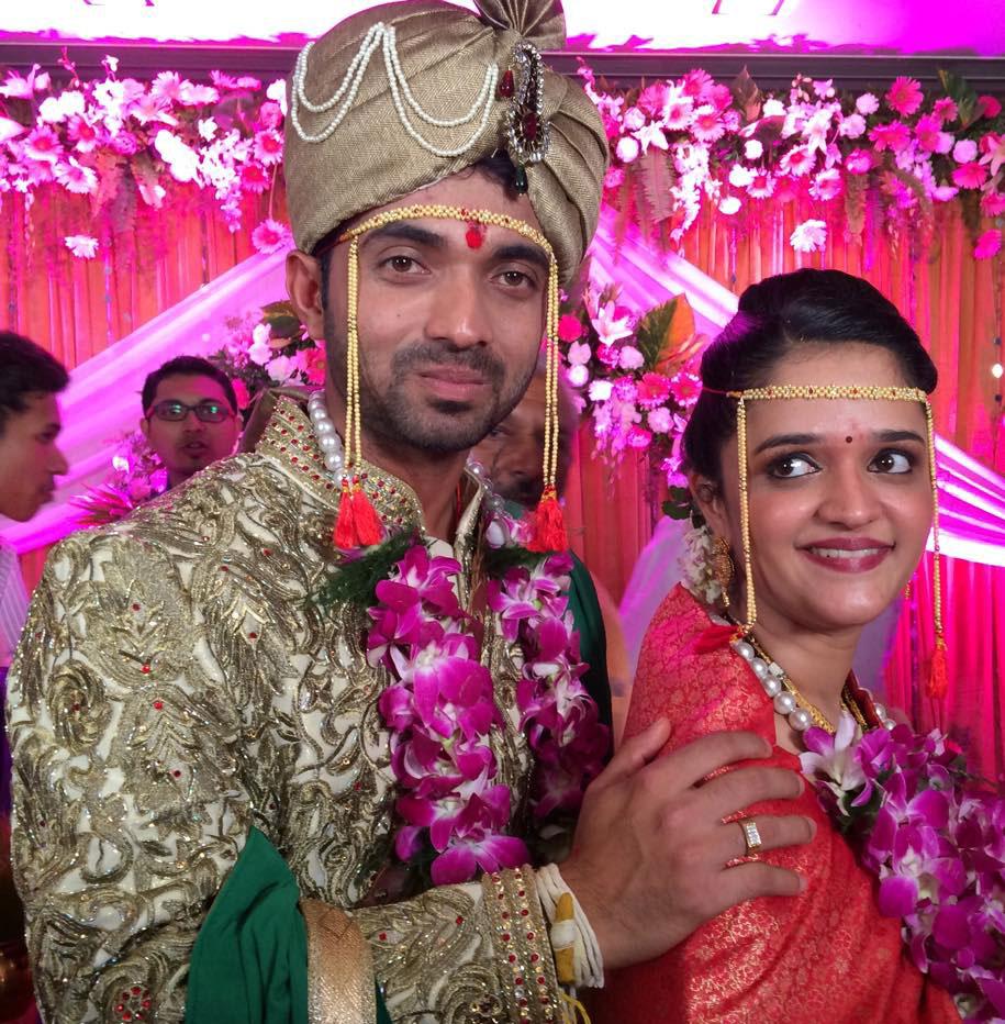 Pre-marriage picture of Ajinkya Rahane and his then fiance Radhika.(Photo Source : Official Ajinkya Rahane Facebook handle)