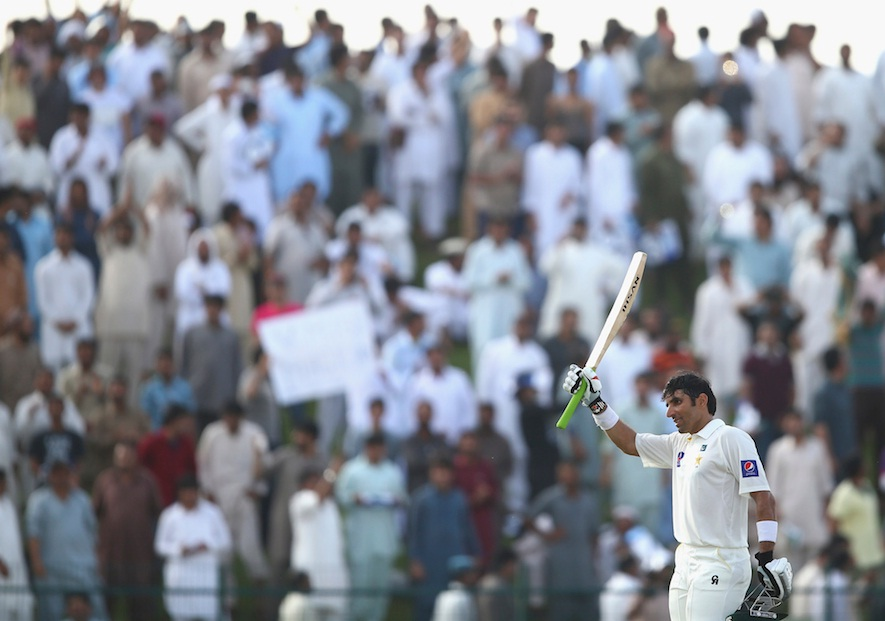 Misbah-ul-Haq scored fastest 50 in test cricket