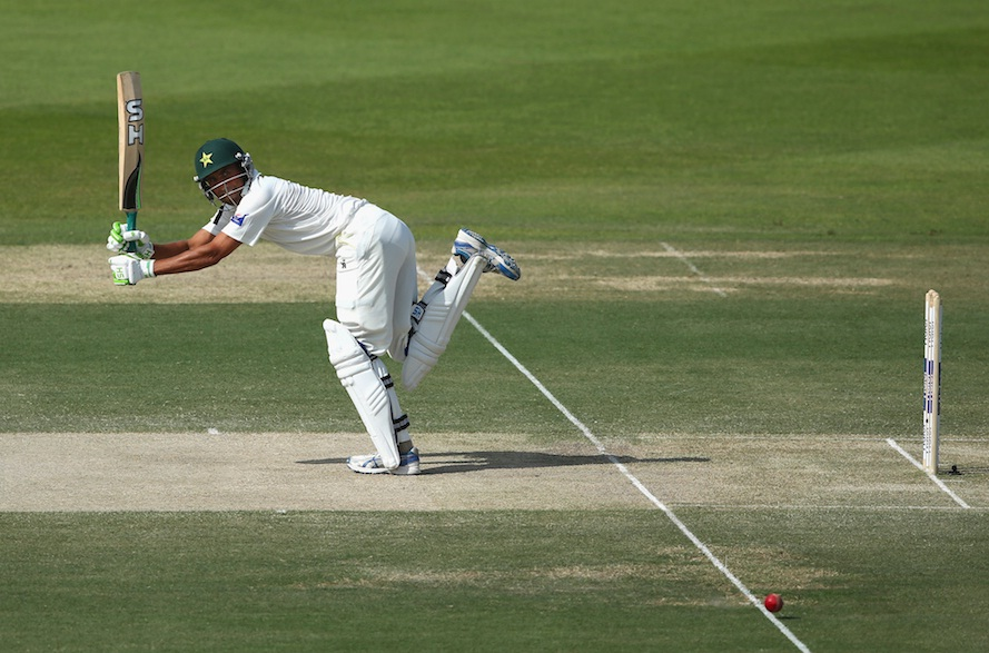 Younis Khan plays a flick shot