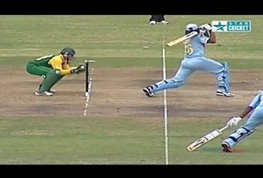 Rarest Stumping Dismissal Ever