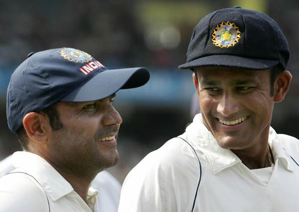 Virender Sehwag and Anil Kumble