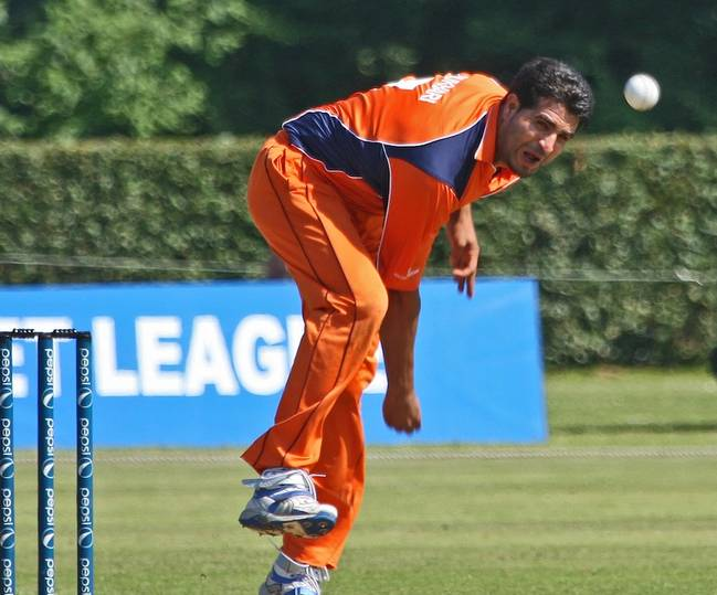 Mudassar Bukhari went for 79 runs in his 10 overs picking up 2 wickets and bowling 2 maiden overs. (Photo Source:ICC/Sander Tholen)