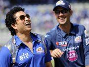 Sachin Tendulkar with Ricky Ponting