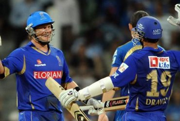 Shane Watson with Rahul Dravid IPL