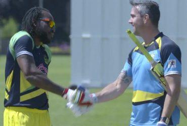 Kevin Pietersen v Chris Gayle