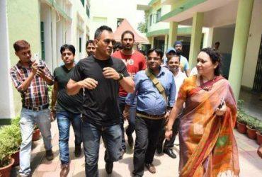 MS Dhoni visits DPS Bokaro