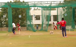Belagavi Panthers practising on the eve of their opening tie against Mangalore United at the Rajnagar Stadium on Wednesday.