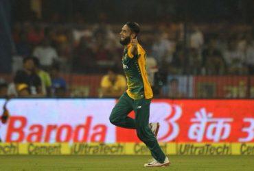 Imran Tahir vs India in 2nd T20