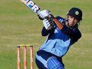 Axar Patel in the Vijay Hazare Trophy 2015