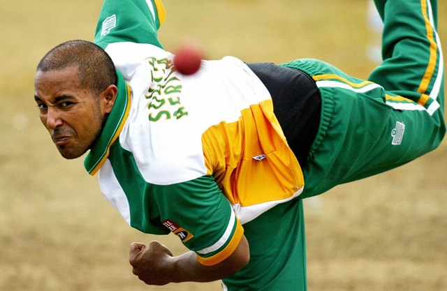 South African spinner Paul Adams. (Photo by WILLIAM WEST/AFP/Getty Images)