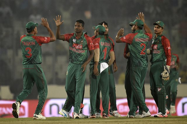 Bangladesh team wicket celebrations