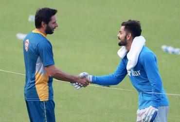 Virat Kohli and Shahid Afridi