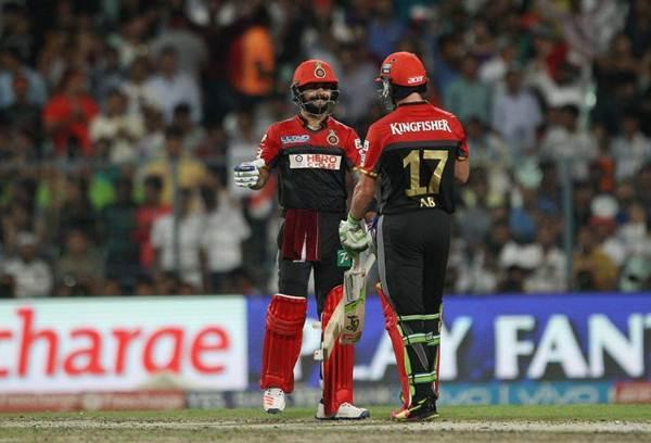 AB de Villiers-Virat Kohli Royal Challengers Bangalore IPL 9