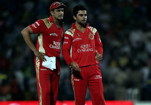 Virat Kohli (R) and Anil Kumble
