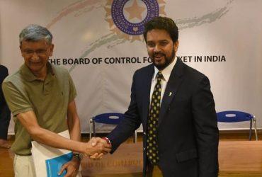BCCI Anurag Thakur and Ajay Shirke