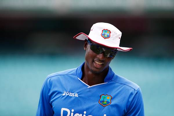 Jason Holder captain of the West Indies Test and One Day International team during training at the Sydney Cricket Ground. Sydney, Australia, Saturday, January. 2nd, 2016. (Photo: Steve Christo) (Photo by Steve Christo/Corbis via Getty Images)