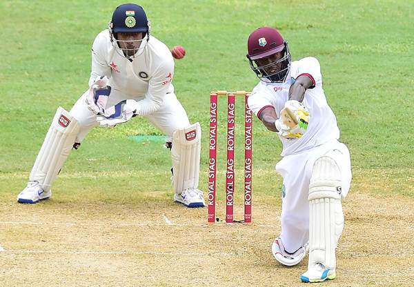 Jermaine Blackwood of the West Indies. (Photo by FREDERIC J. BROWN/AFP/Getty Images)