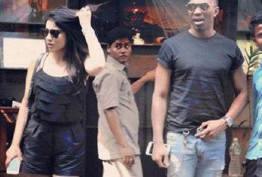Dwayne Bravo and Shriya Saran