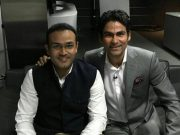 Virender Sehwag with Mohammad Kaif (Photo Source: Twitter)