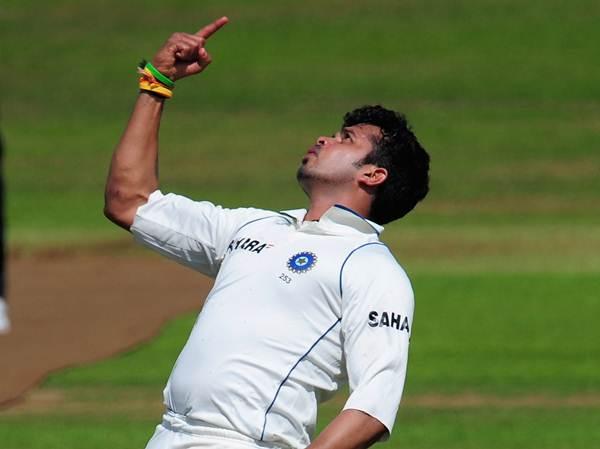 India bowler Shanthakumaran Sreesanth.  (Photo by Stu Forster/Getty Images)