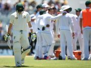 Steve Smith of Australia walks from the field after being dismissed