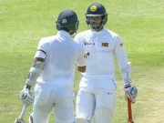 Dinesh Chandimal and Dhananjaya da Silva of Sri Lanka