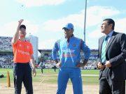 Eoin Morgan & MS Dhoni India captain