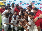 Gujarat team with the Ranji Trophy title