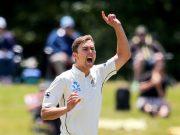 Trent Boult of New Zealand