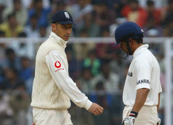 Sachin Tendulkar and Nasser Hussain