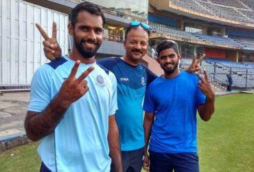 Andhra captain Hanuma Vihari and D. Siva Kumar