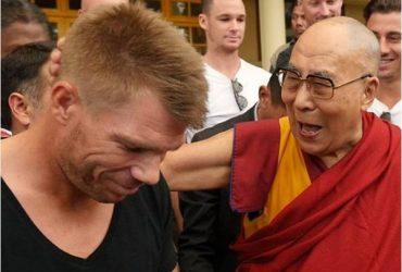 David Warner and the Dalai Lama