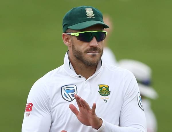 Captain Faf du Plessis of South Africa