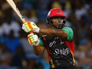 Evin Lewis of the St Kitts and Nevis Patriots