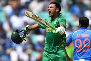Fakhar Zaman of Pakistan celebrates