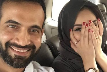 Irfan Pathan with his wife Safa Baig