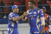 Rohit Sharma and Kieron Pollard of Mumbai Indians