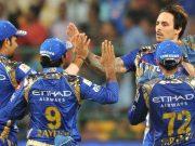 Mitchell Johnson of Mumbai Indians IPL