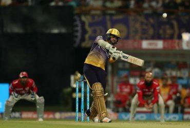 Sunil Narine of KKR Bats IPL 10