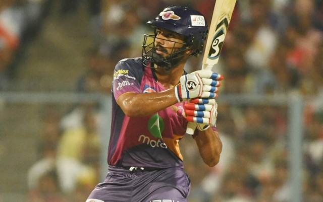 Rahul Tripathi of Rising Pune Supergiants
