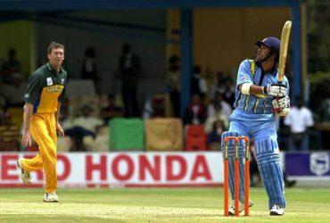 Sachin Tendulkar of India Glenn McGrath